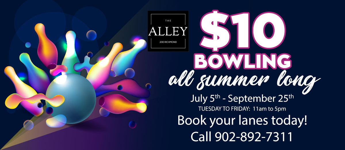 The Alley $10 Bowling All Summer Long